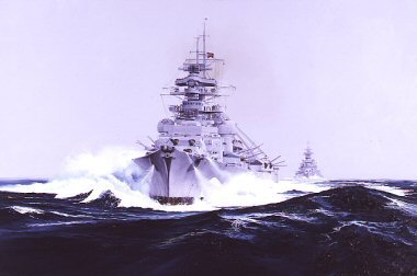 Big brother little sister (Bismarck and Prinz Eugen ) By Randall Wilson.