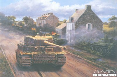 Wittmann at Villers Bocage, Normandy, 0900 hrs, June 13th 1944 by David Pentland. (D)