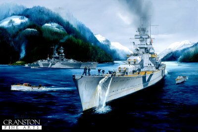 Admiral Hipper Weighing Anchor by Randall Wilson (GS)