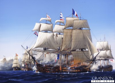 Trafalgar- The Destruction of The Bucentaure by Ivan Berryman. (PC)