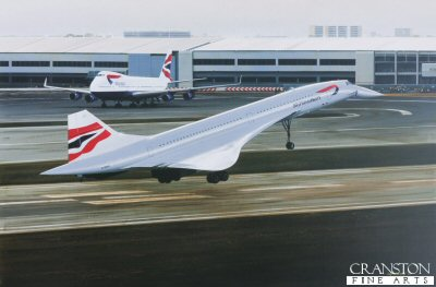 Concorde - The Final Touchdown by Ivan Berryman. (GS)