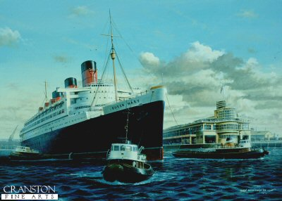 Queen Mary at Southampton by Ivan Berryman.