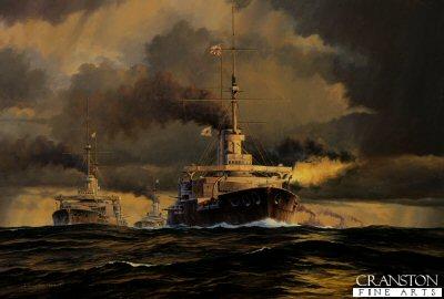 Battle of Tsushima, Line of Battle by Anthony Saunders.