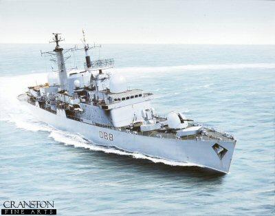 HMS Glasgow by Ivan Berryman.