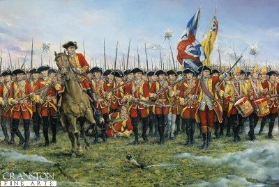The 12th (Suffolk Regiment) at the Battle of Minden. 1st August 1759 by Brian Palmer.