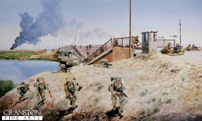 Crossing the North Rumaylah Bridge, Iraq. by David Rowlands.