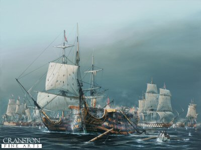 The Battle of Trafalgar, 2.30pm.  The Taking of the Santisima Trinidad by Ivan Berryman (GS)