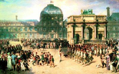 Un Jour de Revue sons L Empire en 1810 by H Bellange.