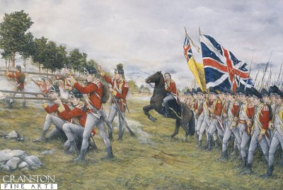 The 9th Regiment, at the Battle of Freemans Farm, September 19th 1777 by Brian Palmer (P)