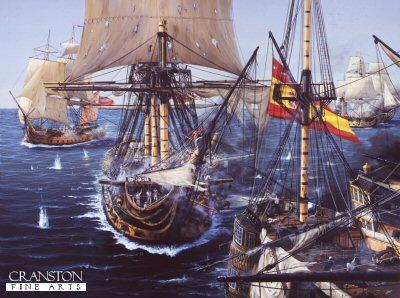 HMS Captain at the Battle of Cape St Vincent by Ivan Berryman.