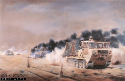 Sgt Dowling MM & L. Cpl. F. Evans, REME, February 26th 1992 by David Rowlands.