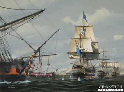 The Battle of Copenhagen, 2nd April 1801 by Ivan Berryman.