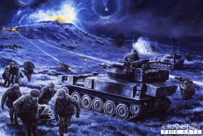 Battle for Wireless Ridge, Falklands, 13th June 1982 by David Pentland. (GL)