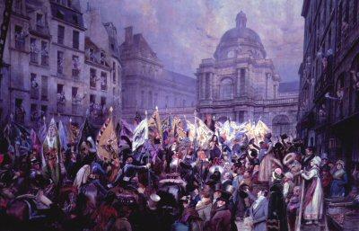 Remise Au Senat Des Trophees by Edouard Detaille. (Y)