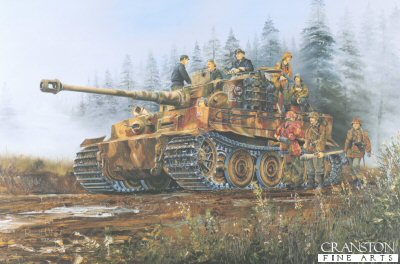 Tiger I of the 3rd SS Totenkopf Division, Poland 1944 by Randall Wilson. (B)