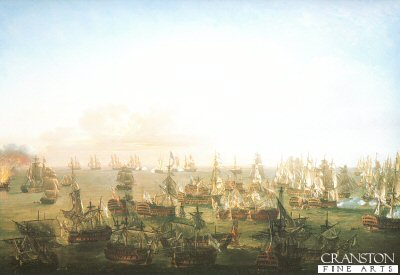 Battle of Trafalgar, 21st October 1805 - The Close of Action by Nicholas Pocock.