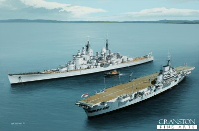HMS Vanguard and HMS Indefatigable by Ivan Berryman. (PC)