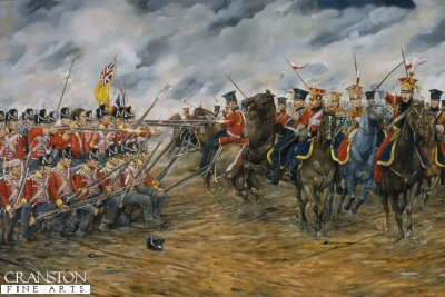 Charge of the Dutch Lancers against the British Squares at Waterloo by Brian Palmer.