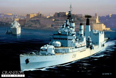 HMS Blake  by Ivan Berryman. (GS)