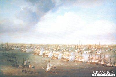 The Battle of Copenhagen, 2nd April 1801 by Nicholas Pocock (B)