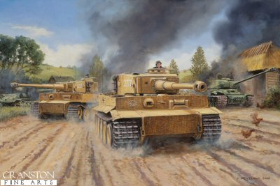 The Tigers Roar, Malinava, Latvia, July 22nd 1944 by David Pentland.