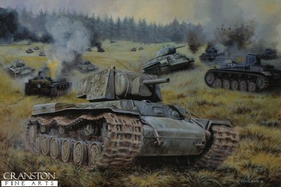 Red Steel at Kamenewo, Mtsensk, Central Front, Russia, 6th October 1941 by David Pentland. (GL)