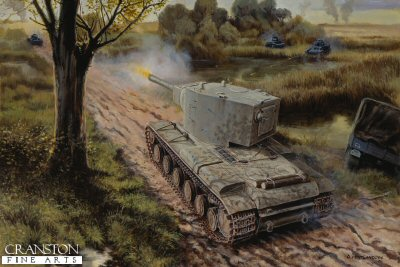 The Roadblock, Dubyana River, Lithuania 23rd - 24th June 1941 by David Pentland.