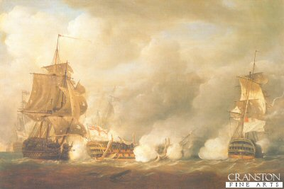 HMS Defence at the Battle of the Glorious 1st June 1794 by Nicholas Pocock.