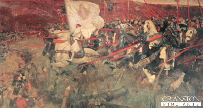 La Pucelle! Joan of Arc, The Maid of Orleans at the Head of French Cavalry by Frank Craig (1874-1918) .