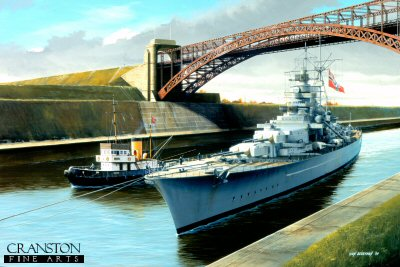 Tirpitz Passing Through Kiel Canal by Ivan Berryman. (B)