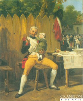 The Veteran at Home by Horace Vernet.