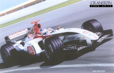 Jenson Button 2004 BAR 006 by Ivan Berryman. (XX)
