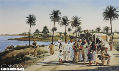 River Patrol, Iraq by David Rowlands. (GS)
