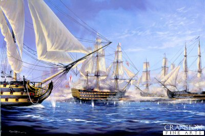 Breaking the Line at the Battle of Trafalgar  by Graeme Lothian. (GL)