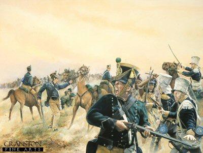 Cape Mounted Rifles against Shakas Zulu Impis c.1827 by Chris Collingwood. (GL)