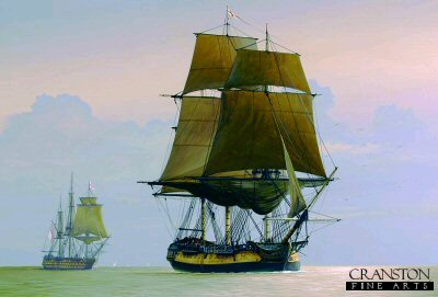 HMS Euryalus Arriving at Spithead by Ivan Berryman.