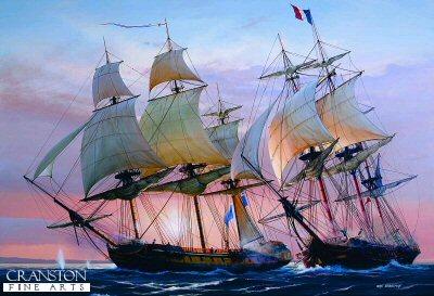 Frigate Action off Antigua by Ivan Berryman. (GL)