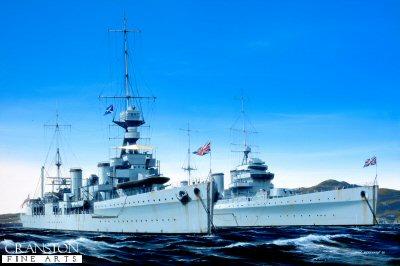 HMS Emerald and HMS Enterprise by Ivan Berryman.
