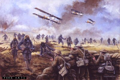 The Kaisers Battle, Operation Michael, France, 21st March 1918 by David Pentland. (GS)