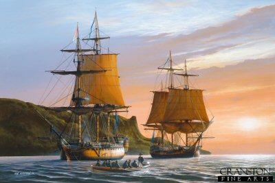 HMS Captain and HMS Southampton, 1796 by Ivan Berryman. (PC)