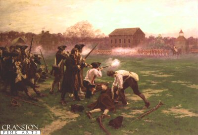 Battle of Lexington by William Barnes Wollen. (Y)