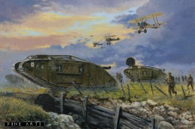 Battle of Cambrai, France, 20th November 1917 by David Pentland. (GS)