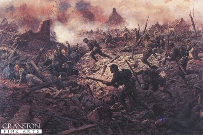 The 1st Buckinghamshire Battalion at Pozieres, 23rd July 1916 by William Barnes Wollen. (Y)