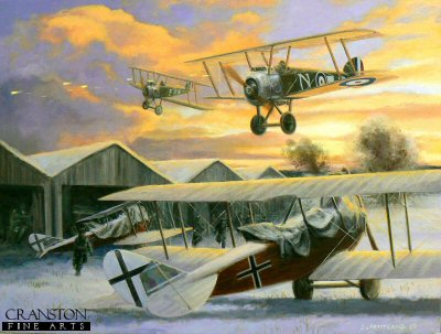 Christmas Greetings from the RFC, North Italy, 25th December 1917 by David Pentland.