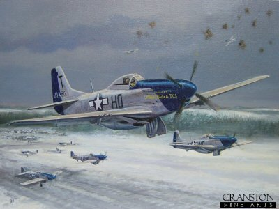Dogfight over Asch, Belgium, 09.20 a.m., New Years Day, 1st January 1945 by David Pentland.