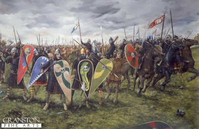 The Battle of Hastings - The Norman Lines by Brian Palmer. (P)