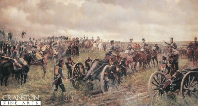 Napoleons Last Inspection Before Waterloo by J P Beadle (B)