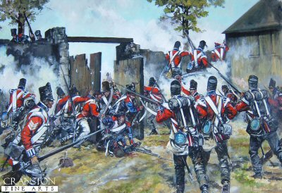 Defence of Hougoumont Farm at the Battle of Waterloo by Jason Askew. (GL)
