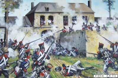 French Attack on Hougoumont Farm at the Battle of Waterloo by Jason Askew. (GL)
