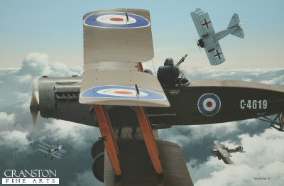 Deadly Partnership - Captain W E Staton and Lieutenant John R Gordon, Bristol F.2b  by Ivan Berryman. (GL)